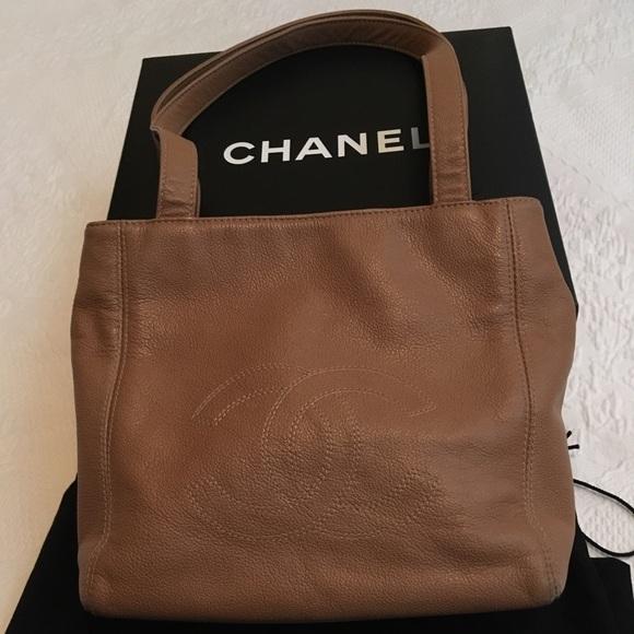 CHANEL Handbags - FINAL sale CHANEL Tan Leather bag c03bc6c7748e8